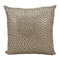 Mini Victory Couture Arabic Geometric Leather Throw 20-Inch Pillow in Gold