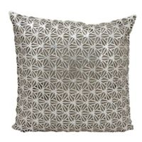 Mina Victory Dragon Claw Square Throw Pillow in Silver