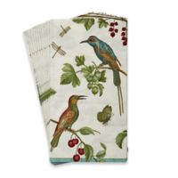 Caspari Jeweled Birds 16-Count Paper Guest Towels