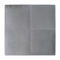Multipurpose 24-Inch x 24-Inch Heavy Duty 4-Piece Foam Floor Mat in Grey