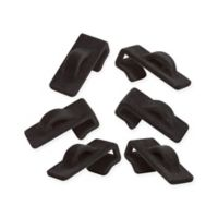 Real Simple® Cascading Flocked Hooks in Black (Set of 6)