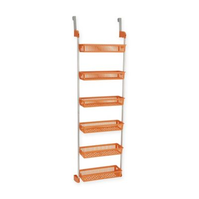 Buy over door kitchen organizer from bed bath beyond household essentials 6 basket over the door organizer in orange workwithnaturefo