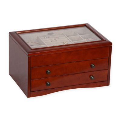 Buy Glass Top Jewelry Box from Bed Bath Beyond