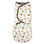 SwaddleMe® Original Swaddle Small/Medium 1-Pack Graphic Jungle in White/Tan
