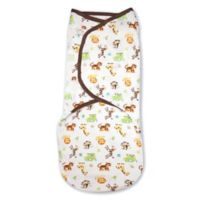 Summer Infant® SwaddleMe® Large Original Swaddle Graphic Jungle Swaddle in White/Tan