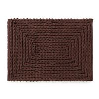 VCNY Barron Cotton Chenille 17-Inch x 24-Inch Bath Rug in Chocolate