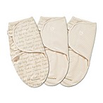 Summer Infant® SwaddleMe® 3-Pack Small/Medium Original Swaddle Cursive Swaddles in Ivory