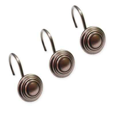 Buy Oil Rubbed Shower Curtain Hooks in Bronze from Bed Bath & Beyond