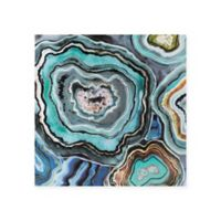 Madison Park Aqua Agate Canvas Wall Art
