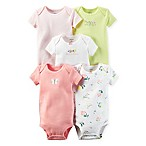 carter's® Size 3M 5-Pack  Pretty Perfect  Babysoft Cotton Short Sleeve Bodysuits