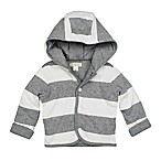 Burt's Bees Baby® Size 6M Organic Cotton Reversible Jacket in Grey Stripe/Solid