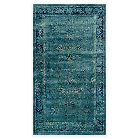 Safavieh Vintage Palace Rug In Turquoise Bed Bath Amp Beyond