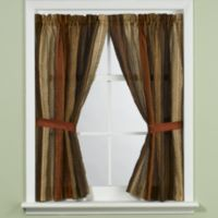 Manor Hill® Sierra Copper Bathroom Window Curtain Panel Pair