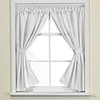 Westerly Bath Window Curtain Pair in White
