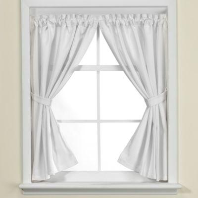 Westerly Bathroom Window Curtain Pair in White Bed Bath Beyond