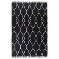 Surya Hines Peak 5-Foot x 8-Foot Recycled PET Indoor/Outdoor Area Rug in Charcoal