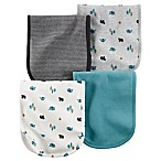 carter's® 4-Pack Burp Cloths in Camping Print/Stripe/Teal