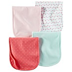 carter's® 4-Pack Burp Cloths in Pink/Melon/Mint/Geometric