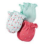 carter's® 3-Pack Mitts in Coral/Pink/Mint