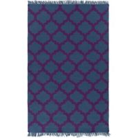 Surya Humphrey 2-Foot x 3-Foot Indoor/Outdoor Accent Rug in Blue/Violet