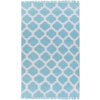 Surya Humphrey 2-Foot x 3-Foot Indoor/Outdoor Accent Rug in Sky Blue
