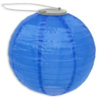 Allsop® GLOW Solar Powered Nylon Lantern in Blue