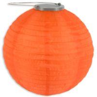 Allsop® GLOW Solar Powered Nylon Lantern in Orange