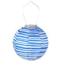 Allsop® GLOW Solar Powered Nylon Lantern in Blue and White