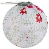 Allsop® GLOW Solar Powered Nylon Lantern in Floral Bloom