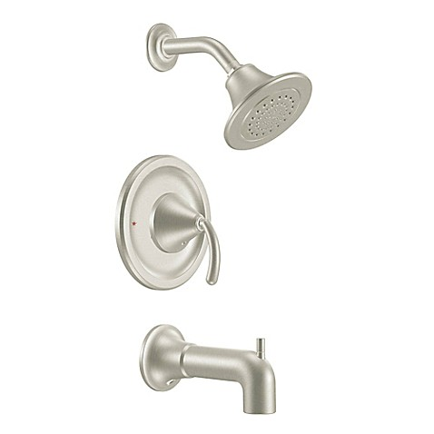 Buy Moen Icon Positemp 1 Handle Wall Mount Tub And Shower Faucet In Brushed Nickel From Bed