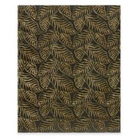 Feizy Leafscape Leaves 5-Foot 6-Inch x 8-Foot 6-Inch Area Rug in Black
