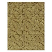 Feizy Leafscape Leaves 5-Foot 6-Inch x 8-Foot 6-Inch Area Rug in Sage/Green