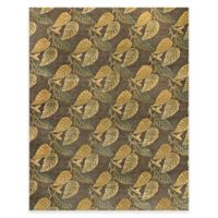 Feizy Leafscape Hawthorne 4-Foot x 6-Foot Area Rug in Charcoal