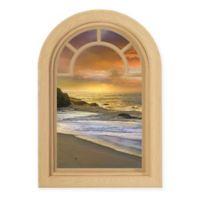 Contour Art Elements Coastal Sunset 20-Inch x 30-Inch Wall Decal