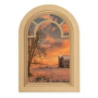 Courtside Market Contour Art Elements Sunset Farm 16-Inch x 24-Inch Wall Decal