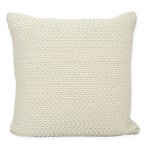 Buy Joseph Abboud Basket Weave Square Throw Pillow in White from Bed Bath & Beyond