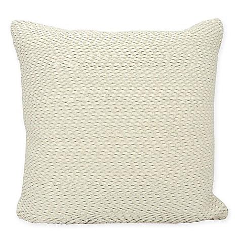 White Square Throw Pillows : Buy Joseph Abboud Basket Weave Square Throw Pillow in White from Bed Bath & Beyond