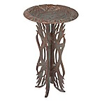 Whitehall Products Dragonfly Pedestal Birdbath in Copper Verdi
