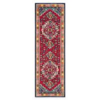 Safavieh Monaco Traditional 2-Foot 2-Inch x 6-Foot Runner in Red/Turquoise