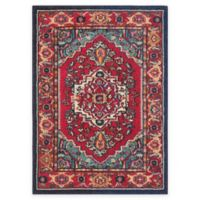 Safavieh Monaco Traditional 3-Foot x 5-Foot Area Rug in Red/Turquoise