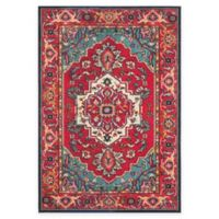 Safavieh Monaco Traditional 5-Foot 1-Inch x 7-Foot 7-Inch Area Rug in Red/Turquoise