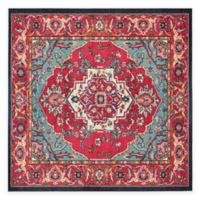 Safavieh Monaco Traditional 6-Foot 7-Inch Square Area Rug in Red/Turquoise