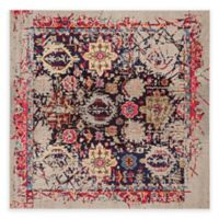 Safavieh Monaco Leo 6-Foot 7-Inch Square Area Rug in Grey Multi