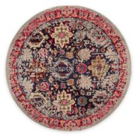 Safavieh Monaco Leo 6-Foot 7-Inch Round Area Rug in Grey Multi