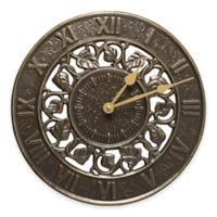 Whitehall Products Ivy Silhouette Indoor/Outdoor Clock in French Bronze