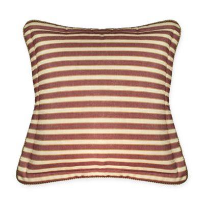 sherry kline country sunset stripe european pillow sham in burgundy
