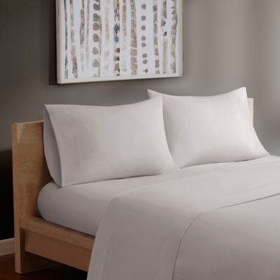 Madison Park® Forever Percale Twin Sheet Set In Grey
