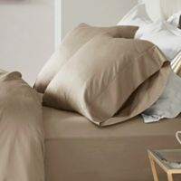 Madison Park 600-Thread-Count Cotton Queen Sheet Set in Stone