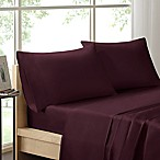 Madison Park 600-Thread-Count Cotton Queen Sheet Set in Plum