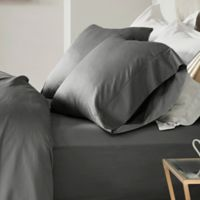 Madison Park 600-Thread-Count Cotton California King Sheet Set in Grey